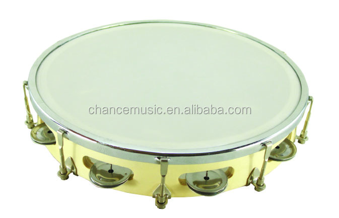 Tunable plastic tambourine with drum shell ABC-BT908H/910HT/910DHT/912DHT
