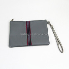 Men's PU Leather Business Envelop Simple Mobile phone Clutch Bag