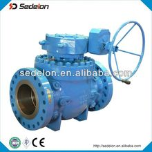 API6D Cast Steel WCB Top Entry Ball Valve Trunnion Mounted Ball Valve