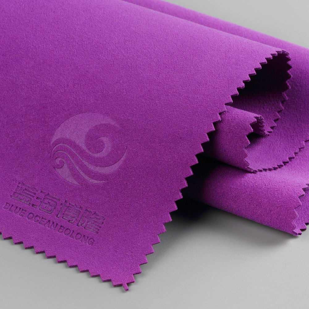 figured sea-island nonwoven microfiber suede leather for shoes, gloves,etc