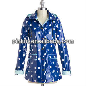 high quality waterproof polyester for polka dot print rainwear fabric