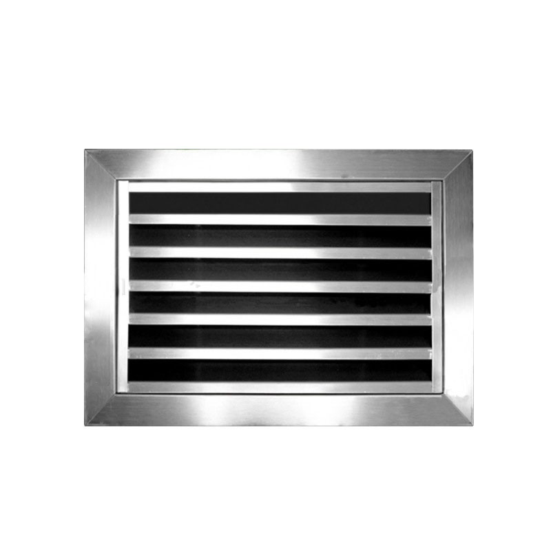 Stainless Steel Air Grille : Stainless steel door hinged return air vent grill