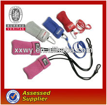 polyester mobile phone sock with strap