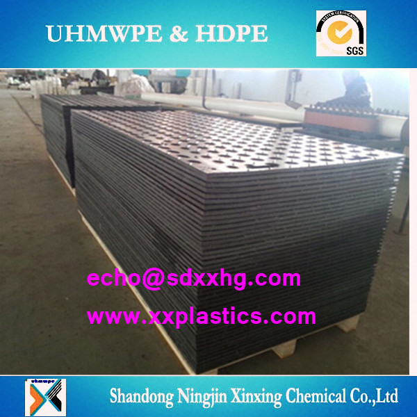 Good Hardness Black Stable Temporary Ground Mats Uhmw Pe