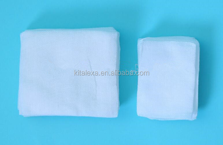 100% cotton absorbent medical sterile gauze piece/non sterile gauze swabs