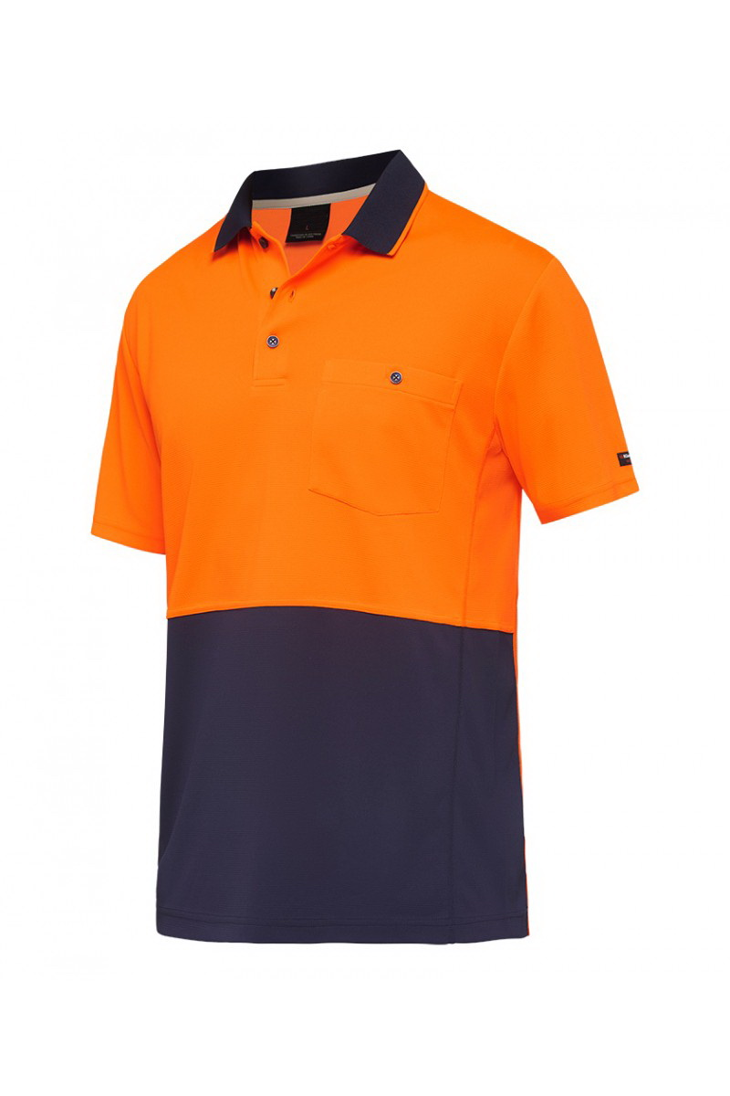 Hi vis fabric work shirts micromesh safety polo shirt design for workwear