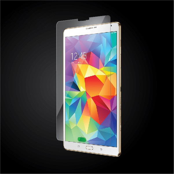 For samsung Galaxy TabS 8.4 tempered glass screen protector wholesale price, TabS 8.4 glass screen protector with OEM package