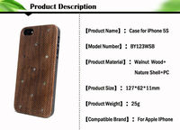 hot selling! 2013 new arrival hard case for iphone5, wood back cover for iphone 5 with beautiful shell