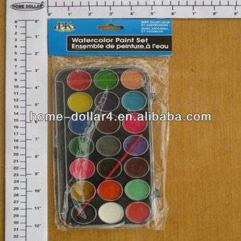 21pc water based paint/water based wood paint/Water Paint W/Brush