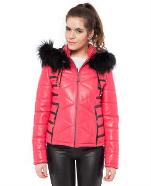 Italian Fur Fashion Woman Coat 2014
