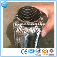 Exhaust hose/pipe with extension tube/nipples stainless steel pipe