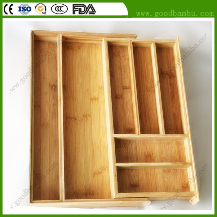 High Quality Wooden Cutlery Box,Kitchen Cutlery Tray