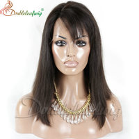 hot selling Best quality Virgin Human Hair Short Bob lace Wig For Black Women