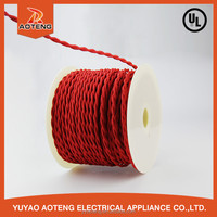 2X0.75MM2 EU 2 core VDE red lighting textile cable