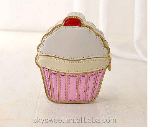 party cake ice cream cute bags handbag lady, summer cartoon bags handbag lady(SWTJU1586)