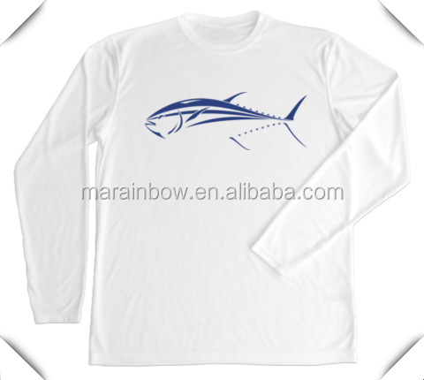 White 100 polyester performance men 39 s long sleeve t for Polyester fishing shirts