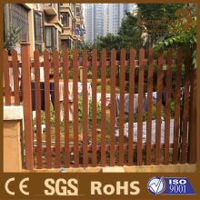 wood plastic composite picket design slat fence
