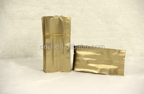 customized foil tin tie vent valve fin sealed bag side gusset quad seal coffee bag