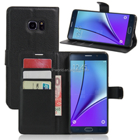 New Product PU Leather Classic Book Folio Case for Samsung Note 7 with Card Slot and Stand
