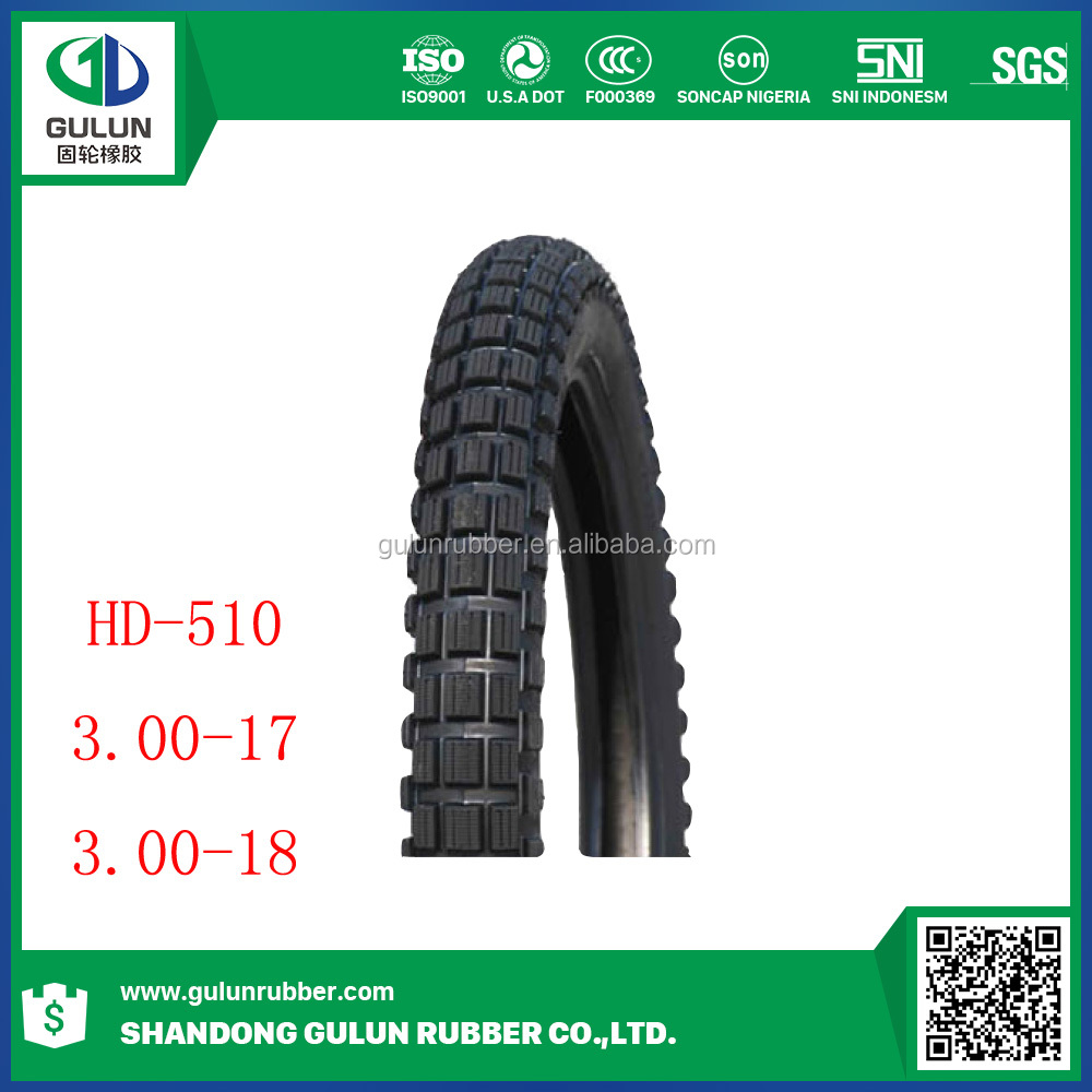 3.00-17 3.00-18 off-road motorcycle tires from China