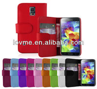 Wallet flip leather Shell Case Cover for Samsung Galaxy S5