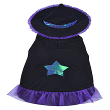 Dog Cat Halloween Costume Coat Pet Comfortable Fancy Witch Costume Clothing for Party Activity
