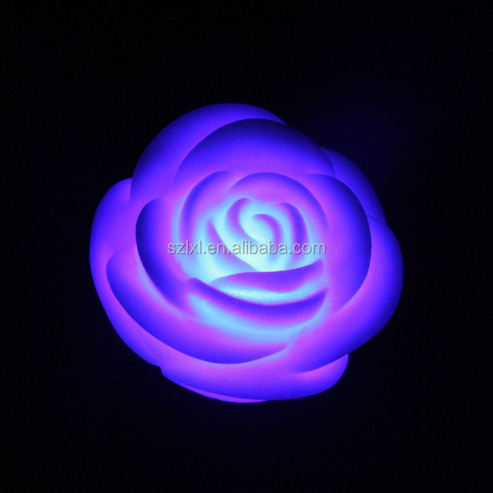 LED Color Changing Rose Night light for Wedding or Party Decoration
