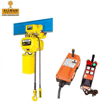 ALLMAN chain sling type lifting equipment 3phase 220V 440V 2ton electric chain hoist with remote control