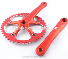 Taiwan made fixed gear bike crankset colored chainwheel and crank