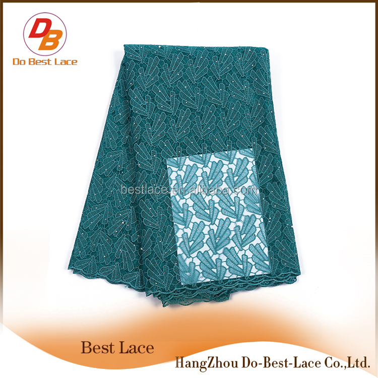 Online Shopping Clothes Decoration Embroidered Evening Dress Net Lace Fabrics