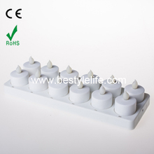 SET 12 Rechargeable Flickering Flameless Led Tea Lights