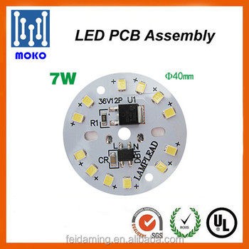 driverless 7w 44mm sensor led modules 5630 circuit board for led bulbs