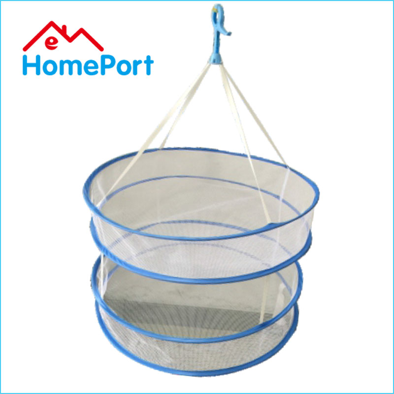 High Quality Folding Mesh 2 Layers Clothes Drying Rack Basket