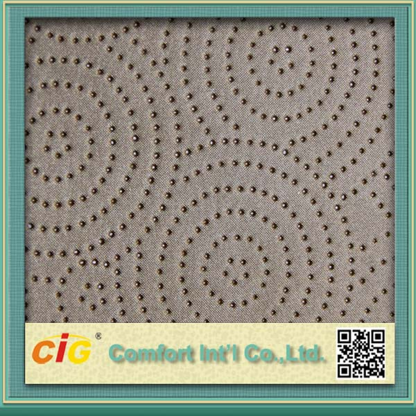 quality stain resistance pleather with dots for USA