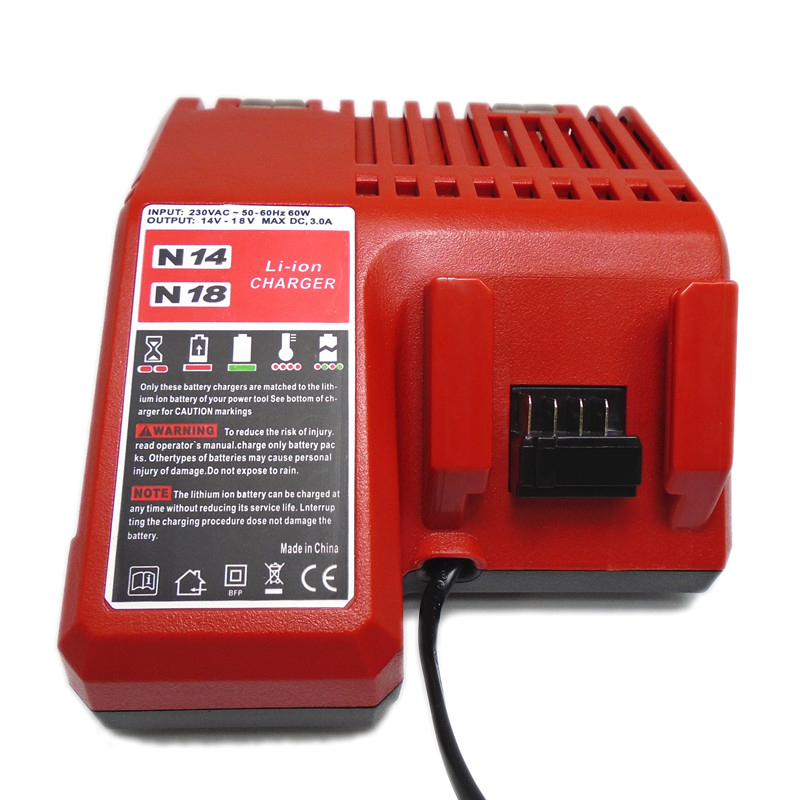 14V-18V 3.0Ah Replacement Li-ion Battery Charger for Milwaukee Cordless Power Tool