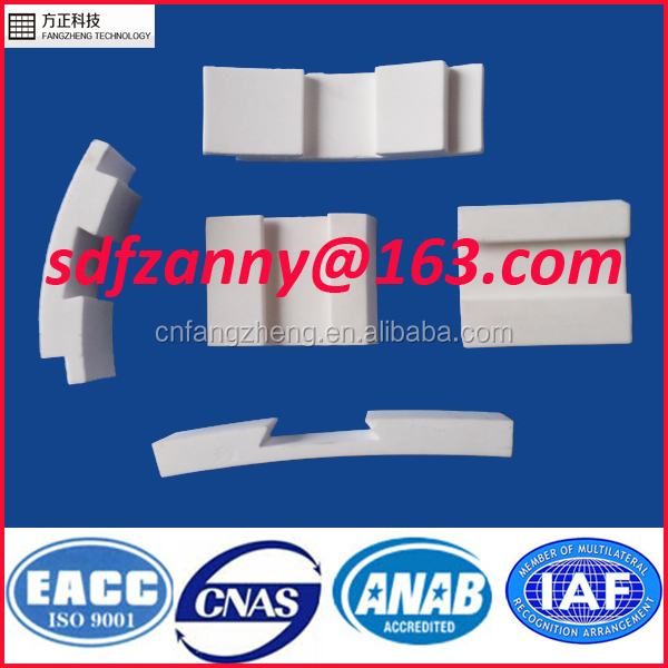 Wear resistant high quality 92% alumina irregular ceramic parts used for steel plant