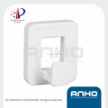 Anho Patent Wall Mounted White ABS Plastic Hook
