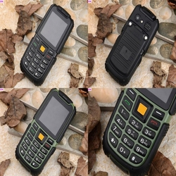 NO.236 - Waterproof Outdoor Sports Cellphone Power Bank Mobile Phone IP68 Dual Sim 2500mah 1.3MP Camera 2.4inch Screen
