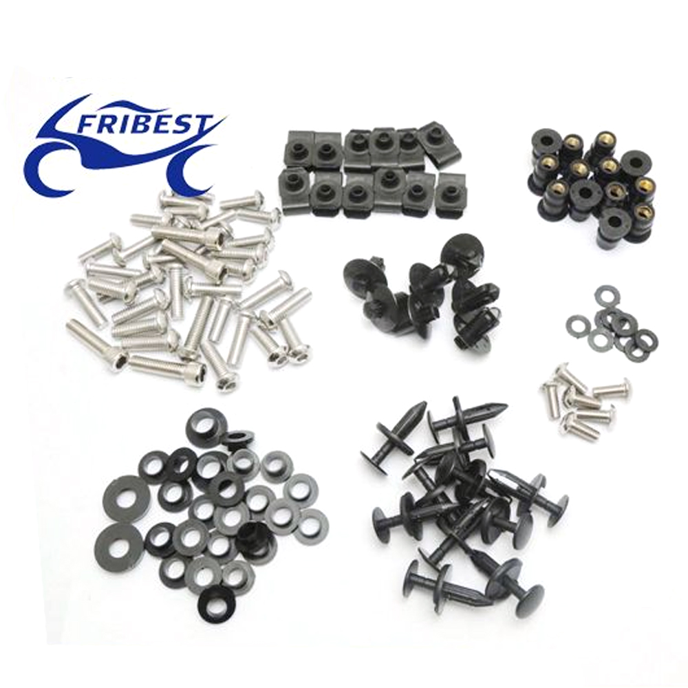 FBTSU007 Motorcycle Bolt Well nut fasteners Kit For Suziki GSXR600 GSXR750 2004 2005 Plastic And Stainless