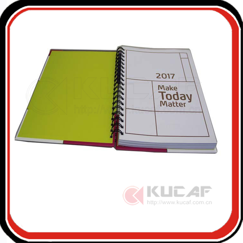 Custom company gift advertising notebook spiral wire-o planner