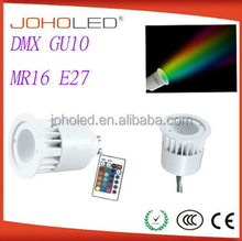 dimmable 4W 5W Mr16 Gu5.3 E27 gu10 cob RGB spotlight