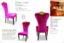 elegant luxury high back banquet chair with crown