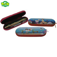 Manufacture Wholesale Custom Tin Pencil Case With Zipper