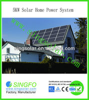 New Arrival Singfo 5000W solar house generation power system