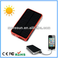 2012 new hottest universal portable mobile charger solar powered 3000mah beautiful customized gift for him and her