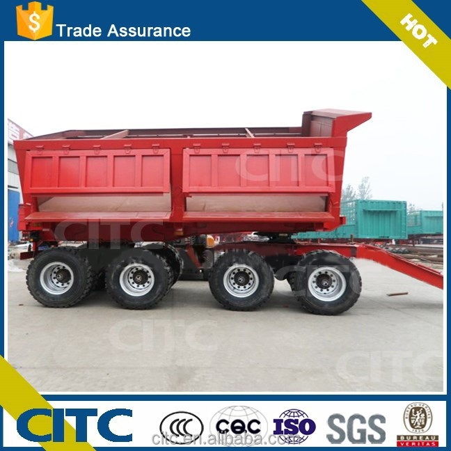 2015 High quality coal/waste soil and residue transporting 30-50tons 2 axle tipper trailer / tipper semi trailer trucks for sale