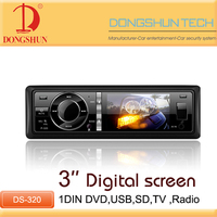 Cheap price 3 inch car 1 din car radio dvd player with AUX