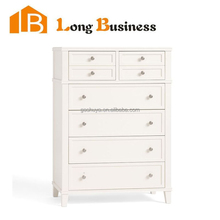 LB-VW5038 Brushed White lacquer finished tallboy chest of eight drawers