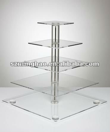 acrylic cupcake stand with stable base