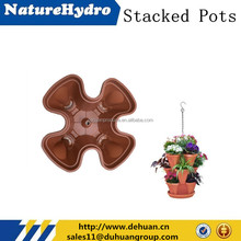 Stylish and Colorful Stackable /Suspensible Plastic Planter/Pot